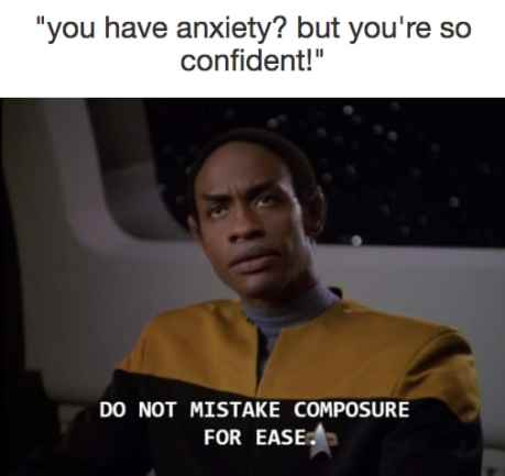 confidence and anxious
